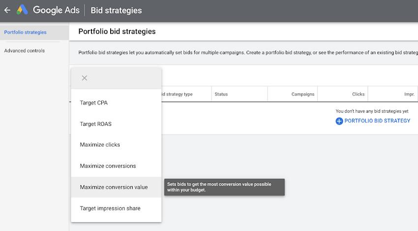 Maximize conversions и Maximize conversion value в пакетном назначении ставок Google Ads