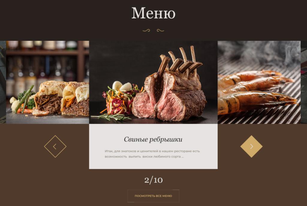Як оформити меню на сайті ресторану