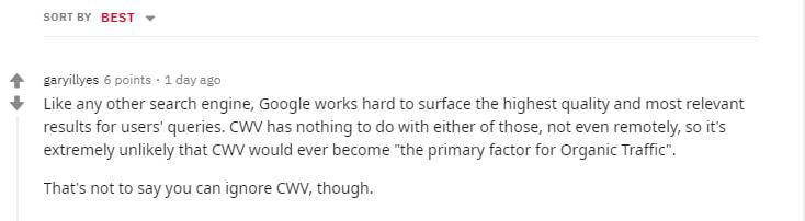 Google ответил, как Core Web Vitals влияет на ранжирование сайта в поиске