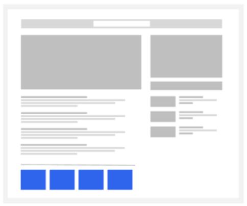 Выбор места для блока рекомендуемого контента на сайте