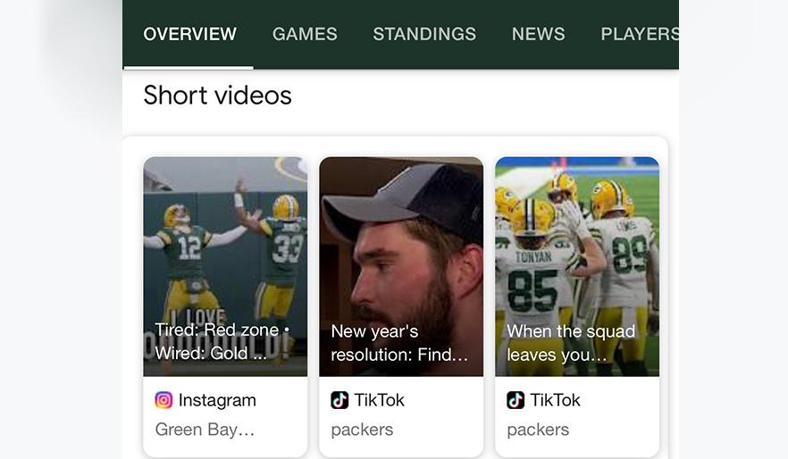Google Search тестує показ коротких відео з Instagram і TikTok