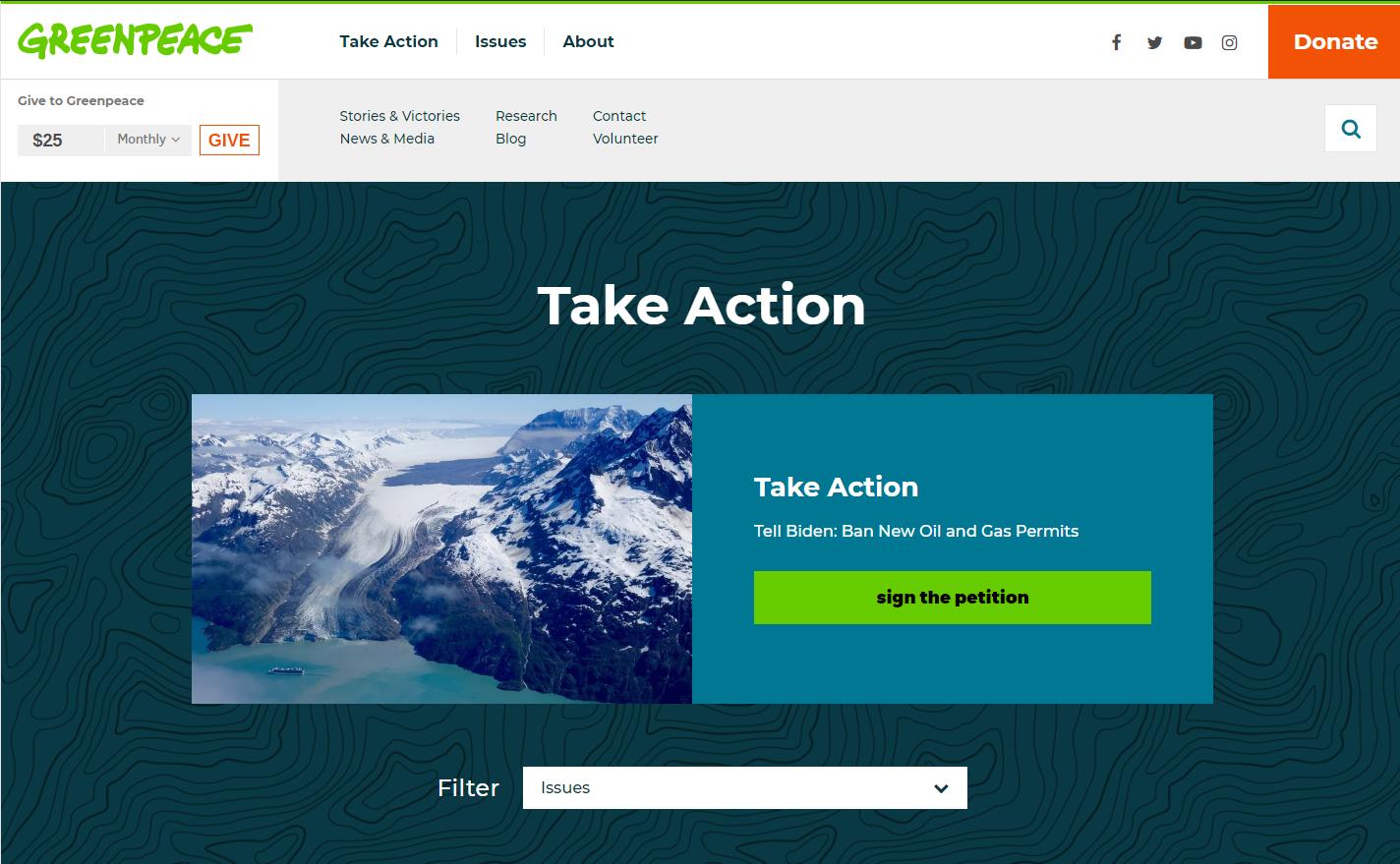Дизайн сайту з зеленим кольором в основі гами