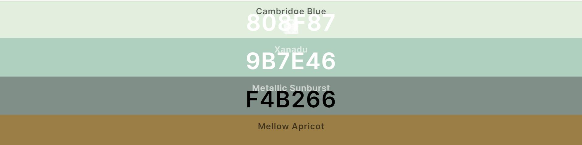 Колірна палітра для дизайну сайту